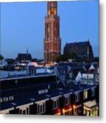 Dom Tower In Utrecht At Dusk 24 Metal Print
