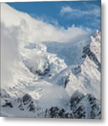 Dome Du Gouter In The Clouds Metal Print