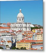 Dome Of Gothic Church In Lisbon Metal Print