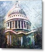 Dome Of Saint Pauls Metal Print