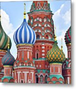 Domes Of St. Basil Metal Print