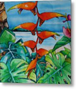 Dominican Heliconia Metal Print