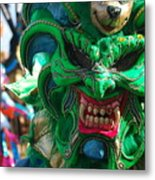 Dominican Republic Carnival Parade Green Devil Mask Metal Print