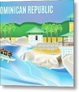 Dominican Republic Horizontal Scene Metal Print