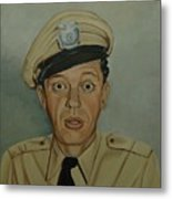 Don Knotts As Barney Fife Metal Print by Tresa Crain