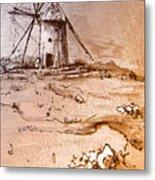 Don Quijote Windmills 06 Metal Print