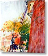 Don Quixote In San Juan Metal Print by Estela Robles