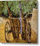 Donkey Cart Metal Print