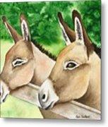 Donkey Duo Metal Print