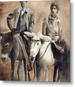 Donkey Ride Metal Print