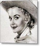 Donna Douglas, Vintage Actress By John Springfield Metal Print