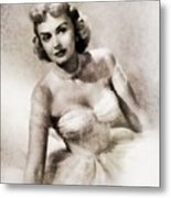 Donna Reed, Vintage Actress By John Springfield Metal Print