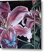 Donna's Flowers Metal Print