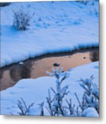 Donnelly Creek In Winter Metal Print