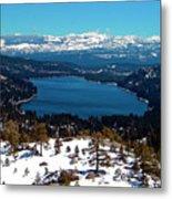 Donner Lake Sierra Nevadas Metal Print
