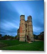 Donnington Castle At Dusk Metal Print