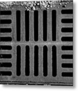 Don't Forget The Drains Bw Metal Print