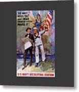 Don't Read American History- Make It Metal Print
