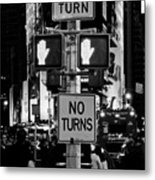 Don't Walk At Times Square Metal Print
