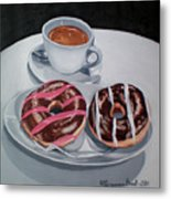 Donuts And Coffee- Donas Y Cafe Metal Print