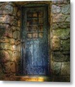 Door - A Rather Old Door Leading To Somewhere Metal Print