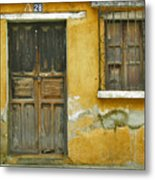 Door And Window Metal Print