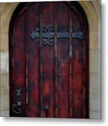 Door At Bath Abbey Metal Print