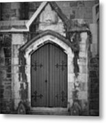 Door At St. Johns In Tralee Ireland Metal Print