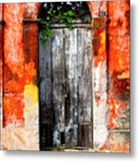 Door At The Red Corner By Darian Day Metal Print