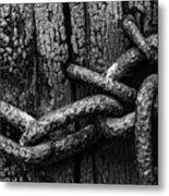 Door Chain Metal Print