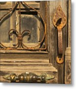Door Handle Metal Print