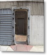 Door In The Richmond Floodwall Metal Print