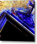 Door With A Cross Metal Print by Adriano Pecchio