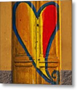 Door With Heart Metal Print by Joana Kruse