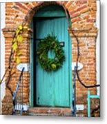 Door With Holiday Reef Metal Print