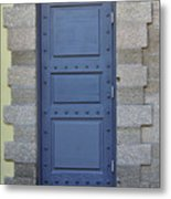 Door With No Handle Metal Print