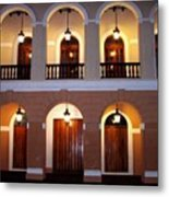 Doors Of San Juan Square Metal Print