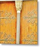 Doorway Detail at St. Tropheme Church in Arles Metal Print