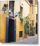 Doorway In Rome Metal Print