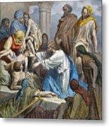 Dor�: Jesus Healing Sick Metal Print