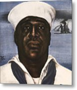 Dorie Miller - Above And Beyond - Ww2 Metal Print