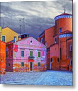 Dorsoduro Colors Under The Clouds 2 Metal Print