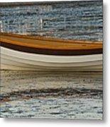 Dory At Low Tide Metal Print