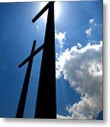 Dos Cruces Metal Print