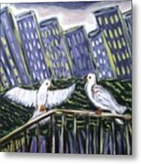 Dos Doves Metal Print