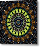 Dotted Wishes No. 3 Kaleidoscope Metal Print
