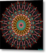 Dotted Wishes No. 4 Mandala Metal Print