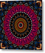 Dotted Wishes No. 5 Kaleidoscope Metal Print