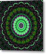 Dotted Wishes No. 6 Kaleidoscope Metal Print