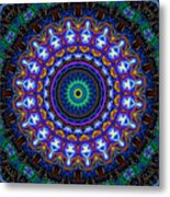 Dotted Wishes No. 7 Kaleidoscope Metal Print